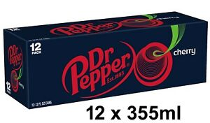 Dr Pepper Cherry Cans USA Import 355ml cans x 12
