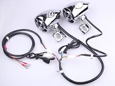 Motorcycle Chrome Bluetooth Speaker Audio System Handlebar Mount For Harley