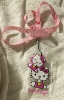 Hello Kitty Pink Lanyard with Name Badge Holder And Hello Kitty Charm