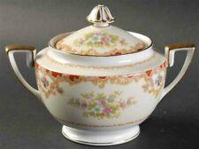 Antique Art Deco Sugar Bowl Vintage 1933 Noritake Porcelain Gold Ceramic Hampton