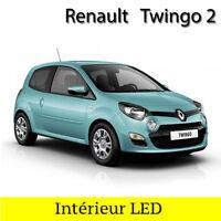Kit éclairage ampoules à  LED  Blanc Lumière Habitacle pour Renault  Twingo 2