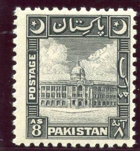 Pakistan 1949 KGVI 8a black superb MNH. SG 49. Sc 52.