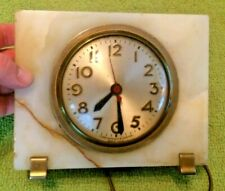 Antique Sessions Marble Mantle Table Clock Art Deco Decor Mid Century Rare