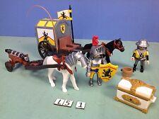 (L5.1) playmobil Convoi et trésor chevalier du lion ref 4874 4865 4871 4867