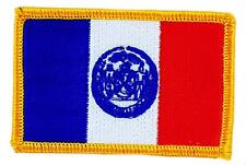 Patch écusson brodé Drapeau NEW YORK  Thermocollant USA AMERICAIN ETATS UNIS