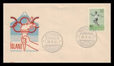 Iceland 1964 FDC, The Olympic Games In Toyko. Lot # 7.