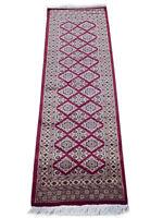 6 foot Velvety Plush' Rug Red 185 x 64 cm Woven farmhouse style rug runner