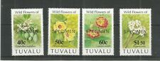 TUVALU 1993 FLOWERS SPECIMEN SG,664-667 U/MM N/H LOT 3765B