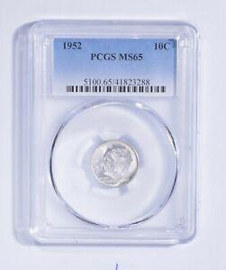 MS65 1952 Roosevelt Dime - Graded PCGS *208