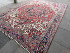 Antique Traditional Persian Wool Red Oriental Handmade Carpet Rugs 335x253cm