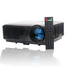 Mini 3500 lumens Home Business 3D Smart Projector HTMI AV TV HD 1080P Black US