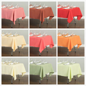 1/10PK LinenTablecloth 60 x 126 in Polyester Tablecloths for Wedding Event Party