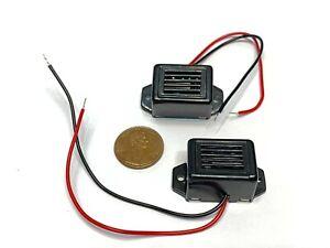 2 Pieces Alarm Buzzer DC 12V 85dB Mini Electronic Alarm Buzzers Constant Tone E1