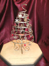 INTERNATIONAL SILVER CO. SPIRAL Christmas TREE VOTIVE HOLDER-#99118869-Free/Ship