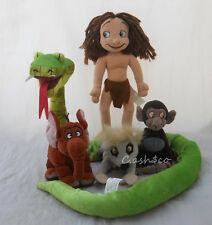 Tarzan lot of 5 plush Disney Tantor Baby Baboon Lemur Vicious Snake Young Tarzan