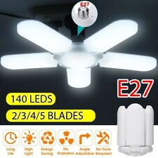 60W 20000LM 5+1 Blades LED Garage Light E27 Deformable Shop Ceiling Lamp
