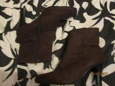 CHOCOLATE BROWN BOOTS WITH HEEL SIZE 5  BRAND NEW  BY SHOE FAYRE FREE P+P