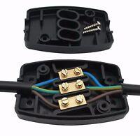 Kabelverbinder Kabelgarnitur Verbindungsdose mit Schraubklemme 3 Polig 13Amp