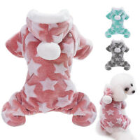 Pet Puppy Dog Pajamas Jumpsuit Cute Soft Cotton Dog Coat for Small Dogs Cats