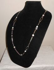 NEW NWT Brighton PEBBLE PEARL Long Pearl Retired Necklace JN1112