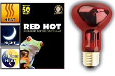 Nocturnal Reptile Pet Infrared Heat Lamp Bulb Red Hot Spot Light Bulbs 50W-150W