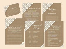 Print Yourself Burlap and Lace Bridal Shower Games Printables BS34