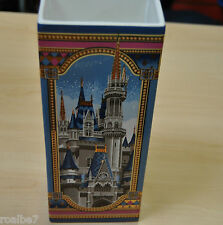 Nib Disney Ceramic Vase Cinderella Castle Disney World & Sleeping Beauty Castles