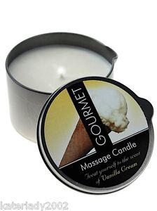 (8€/100ml) Gourmet MASSAGEKERZE Vanille - 200ml - Massageöl