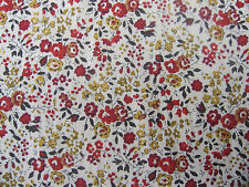 LIBERTY  TANA LAWN COTTON  1.00 MTR of EMMY in BURNT ORANGE