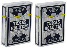 More details for 2 x copag playing cards peek index silver texas holdem 100% plastic