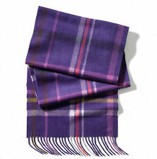 NWT Coach 72 x 12 Woman 100% Cashmere Tattersall Scarf / Wrap 84063 Violet Multi