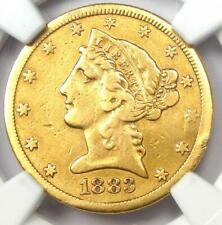 1883-CC Liberty Gold Half Eagle $5 Coin - NGC VF Details - Rare Carson City!