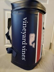 Vineyard Vines For Target Pink Whale Striped 10 Can Cooler Sling Insulated Strap