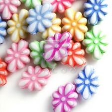 150pcs Flower Acrylic Beads Charms DIY Jewelry Making 11x8x4mm Assorted Color
