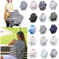 Elastic Baby Stroller Car Seat Cover Canopy Nursing Breastfeeding Scarf Blanket