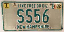 Vanity SS 56 1956 license plate Corvette Jaguar Alfa Romeo Chevrolet Super Sport