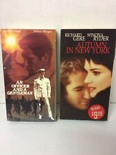 Lot of 2 Richard Gere Office and a Gentleman Autumn in New York VHS Movies Drama