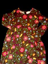 Hanna Andersson Dress 140 Fall Flowers Sz 9 10 11 Long Floral Thanksgiving