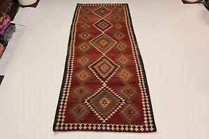 S.Antik Nomaden Kelim Unikat  Perser Teppich Orientteppich 4,32 X 1,68