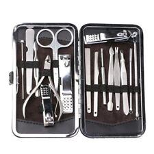 Men & Women16Pcs  Nail Care Personal Manicure & Pedicure Set Travel Grooming Kit