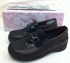 Aetrex Women's Slip On Dark Brown Leather Comfort Stylish Work Walking Shoes 6 W