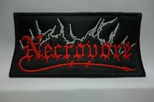 necrovore red logo       EMBROIDERED  PATCH