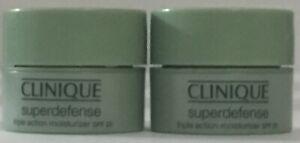 2 Clinique Superdefense Triple Action Moisturizer .21oz/7ml NEW