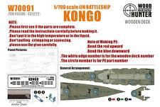 Hunter 1/700 W70091 wood deck ijn kongo for fujimi