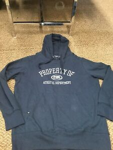 NWT Fox Sports Blue Antigua Stitched Hoodie Sweatshirt Large New With Tags