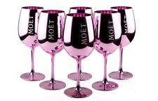 6x Moet & Chandon Imperial Gläser Glas Pink Rose Rosa Champagner