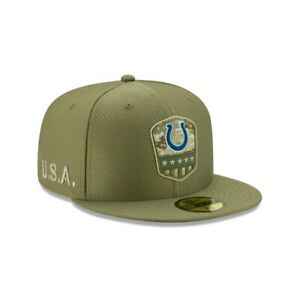 NWT New Era Indianapolis Colts Salute To Service Hat Cap On Field $40 Sz 7 1/2