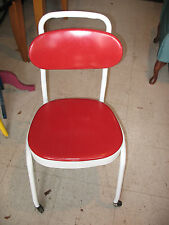 COSCO  SEWING / MANGLE  STEEL ROLLING  CHAIR   MID CENTURY  NICE !!!!!