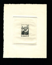 France1946 Sc B206 Communications Costumes Stamp Day Sunken Die Artist Proof