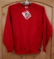 Vintage 90's Fruit of The Loom Crewneck Sweater Blank Deadstock NWT Red Size M